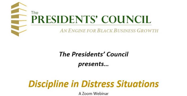 Zoom Webinar: Discipline In Distress Situations