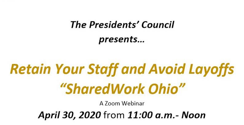 "Zoom Webinar: Retain Your Staff And Avoid Layoffs ""SharedWork Ohio"""