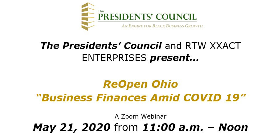 "ReOpen Ohio ""Business Finances Amid COVID 19"""